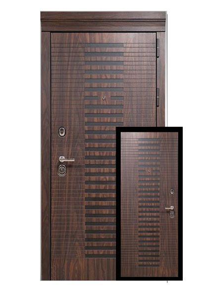 Входная дверь Барселона с накладкой МДФ