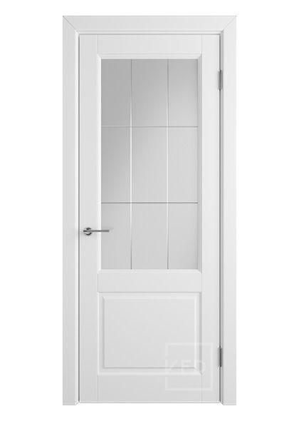 Межкомнатная дверь со стеклом Доррен