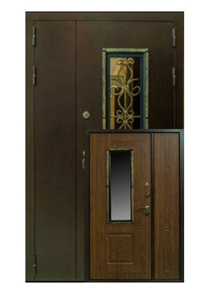 Входная дверь Ковка двустворчатая (правая)
