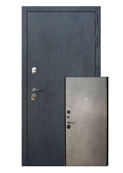 Входная дверь Стоун с накладкой МДФ (правая)